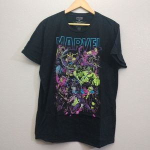 Marvel XL Black Short Sleeve Graphic TEE Shirt